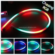 3 wire round RGB chasing led ultra thin neon flex rope light