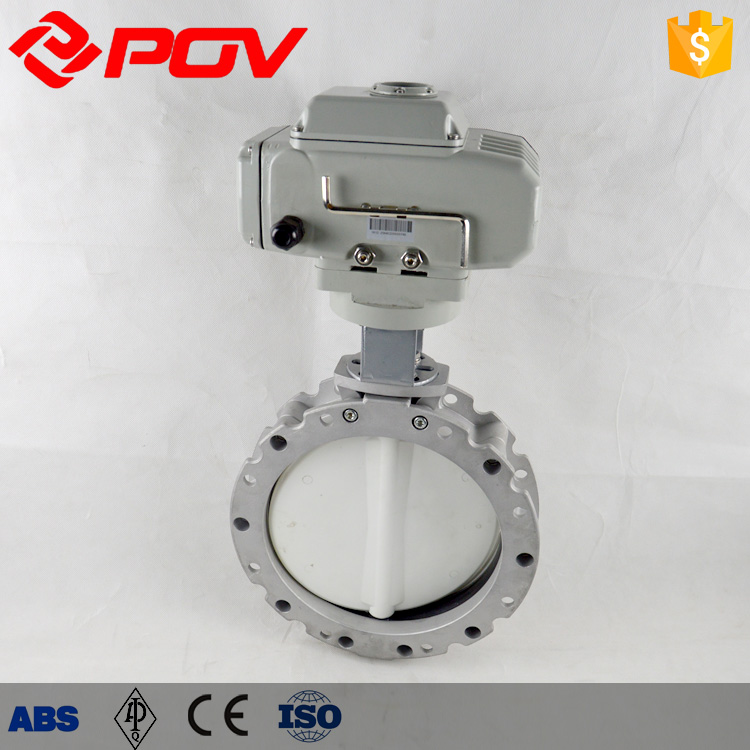 Stainless steel electric flow control Powder butterfly valve