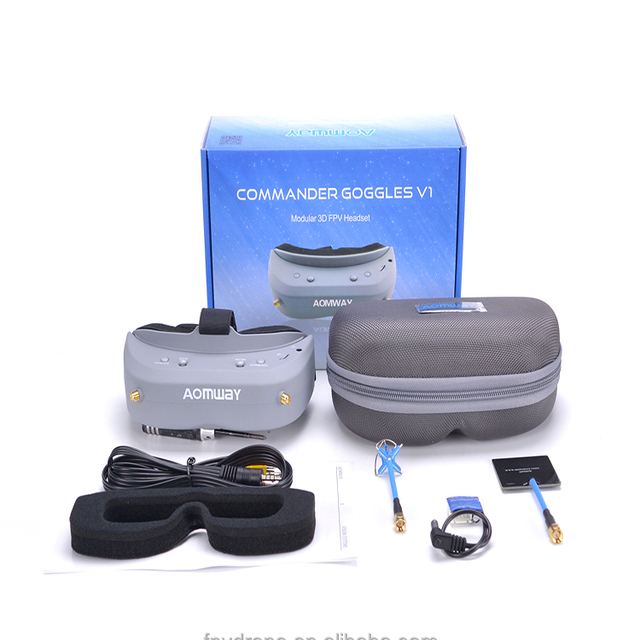 Aomway Commander FPV Goggles 40CH 5.8G 854*480 Resolution FPV Video Headset Glasses Support HDMI DVR Headtracker NTSC / PAL