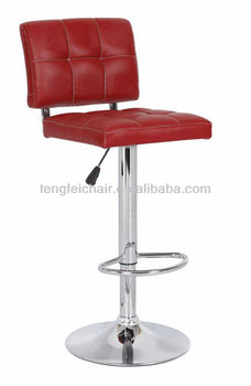 New PU bar stool with chroming base/ 360 degree and height adjustable/ all color