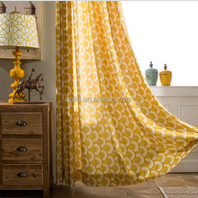 Simple Geometric Cotton Yellow Curtain Curtains For Bedroom Curtains
