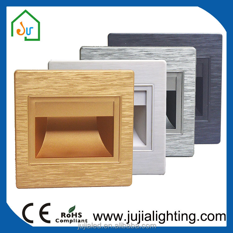 mini outdoor/indoor square recessed led step light