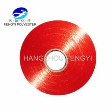 100% Grade Ring POY Polyester Yarn for Knitting/Weaving,Red Color,High Tenacity