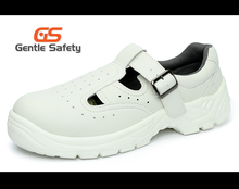 GT0518 White micro fiber steel toe safety shoes sandal