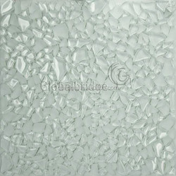 Special shape broken glass mosaic tile toughen crystal glass mosaic