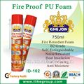 fire proof polyurethane foam insulation spray (RoHS, SGS, Reach, canton fair 2012)