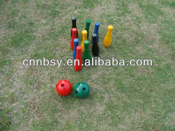 2012 best popular wooden bowling set game