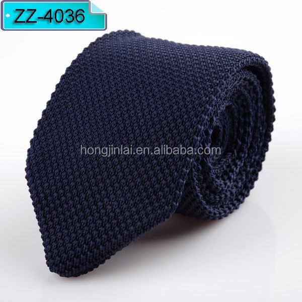 Dark blue knit necktie Men's narrow slim knitted <strong>tie</strong> plain woven arrow tip neck <strong>tie</strong> ZZ4036