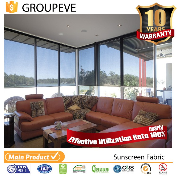 Clear beautiful Fire Retardant discount roller blinds