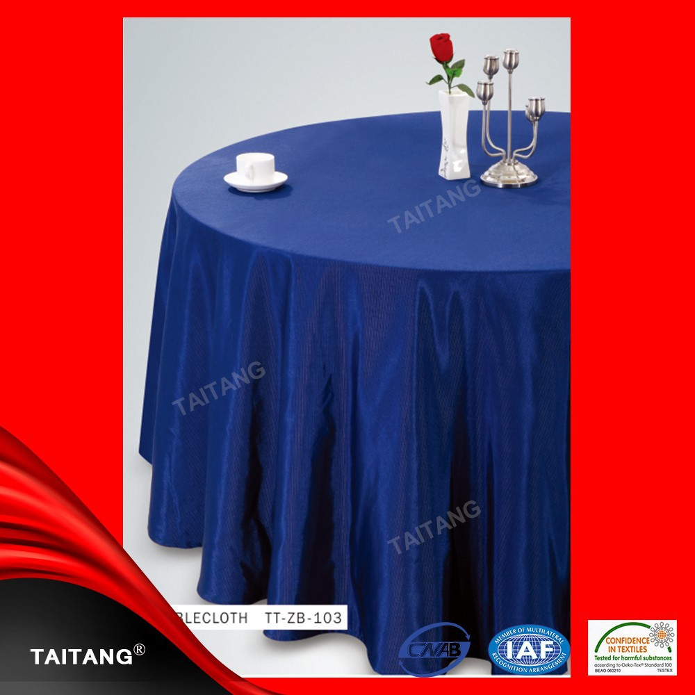 2015 Hot Sale luxury satin table cover western style tablecloth