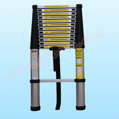 (RUSSIA ONLY)12.5 feet 3.8m thicken single Aluminum Telescopic Ladder/stepladder for home use