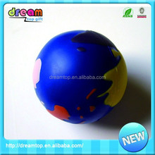 Blue round shape pu 6.3 cm water bouncing ball