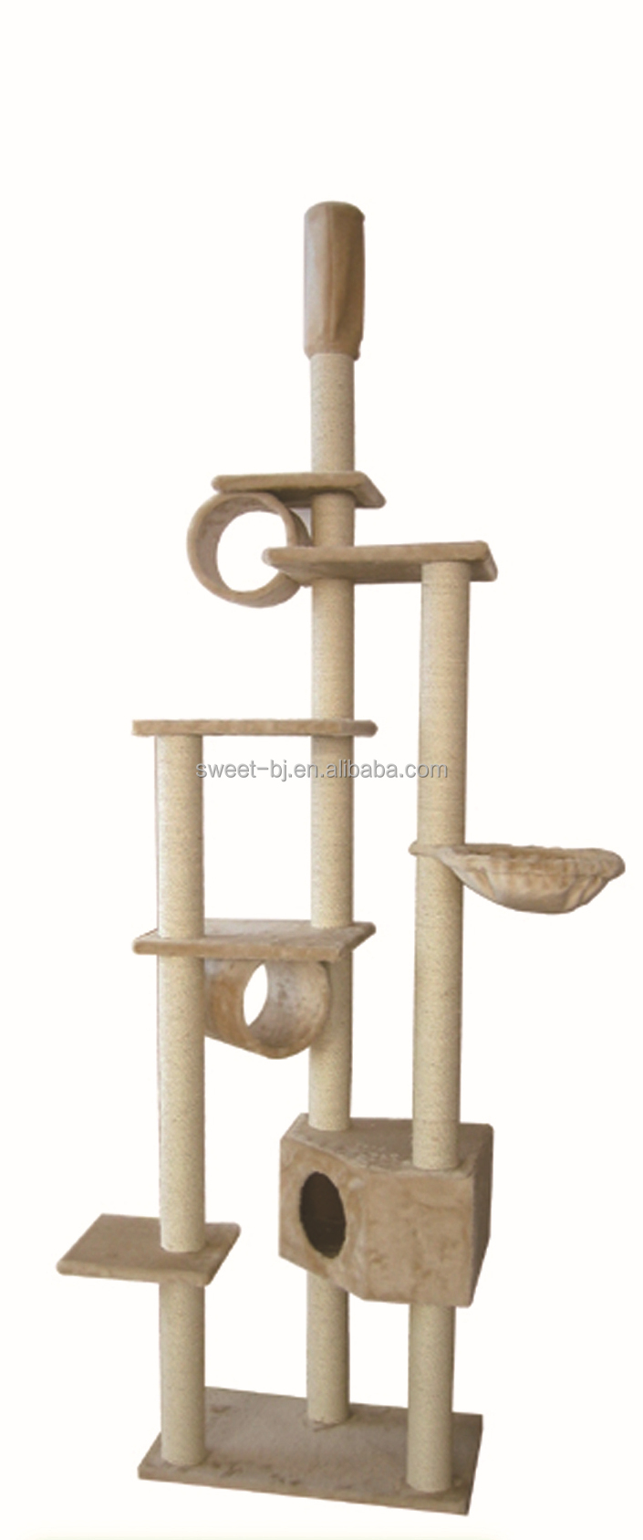 Sweet Factory Supplier Wholesale Manufacturer Wooden Cat Furniture Tree Cats Luxury Plastic Cat