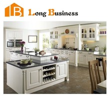 LB-JL1222 Modern country style kitchen designs white solid wood kitchen cabinets
