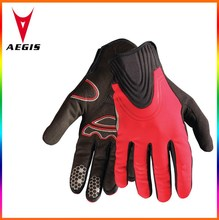 brand newred full finger road cycling glove/wholesale durable cycling glove 2015