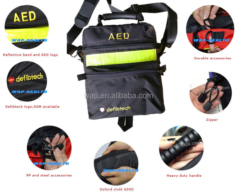 WAP-health CE approved hot sale defibrillator bag with customized logo