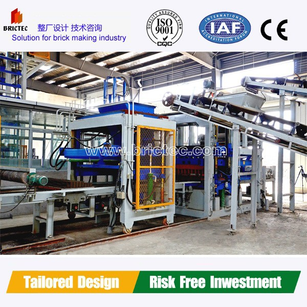 Fully Automatic brick making tools Cement Block Making Machine QFT9-15 for making hollow blocks in Alibaba express
