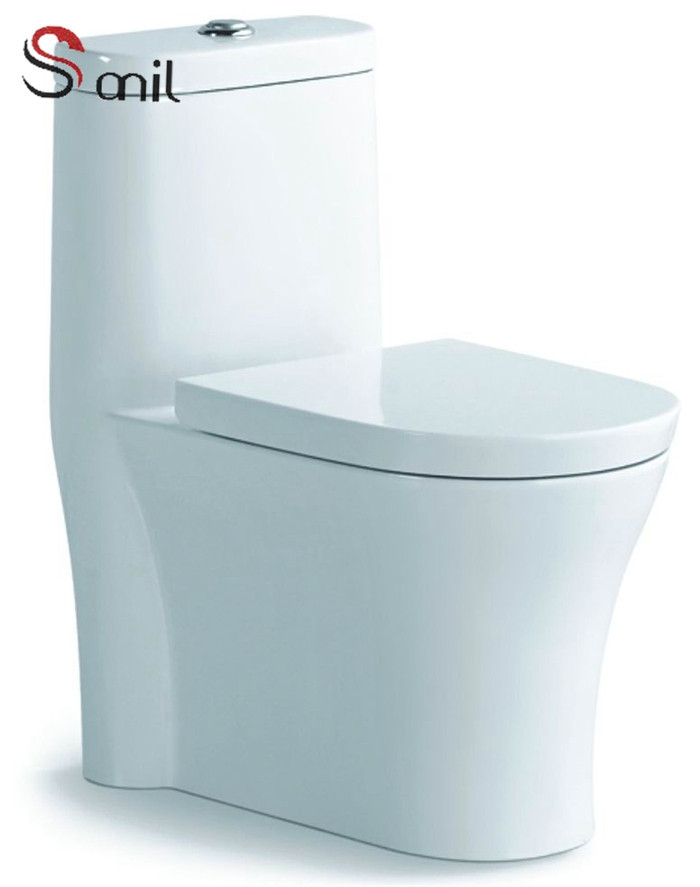 SN7536 Siphonic chinese manufacturer design one piece sanitary ceramic white color toilet