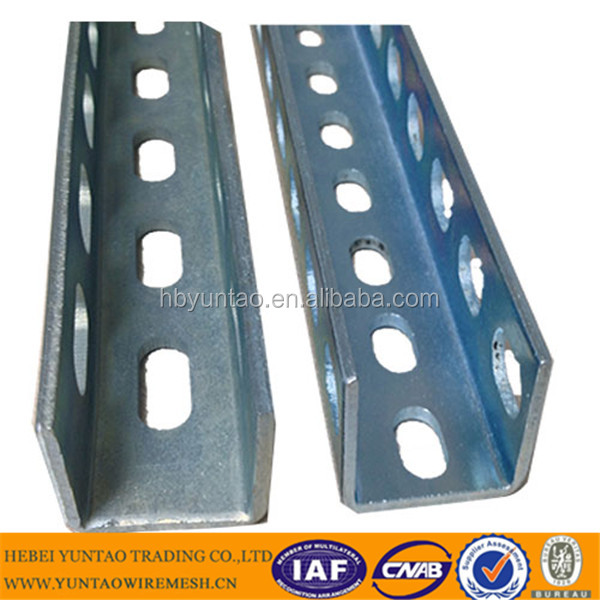 Competitive price U shape C shape steel strut channel/ HDG slotted channels