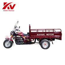 Luxury and Red color adult trike three wheeler price/3 wheel motorcycle/cargo bike made in China