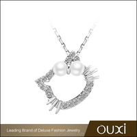 OUXI new arrival hello kitty latest design pear necklace 11301-2
