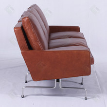 Modern Leather Sofa Poul Kjaerholm PK31 3 seat Living Room Sofa