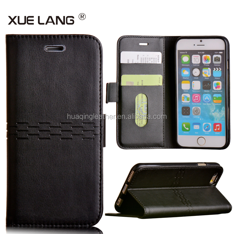 leather bag case for iphone 6,wallet case for iphone 6 ,cell phone case