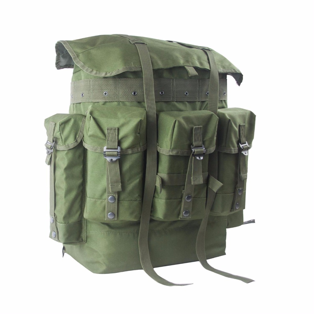 External Frame Trekking Hiking Tactical Knapsack Army Overland Military Patrol Bag Pack Molle Camo Range Tactical Backpack