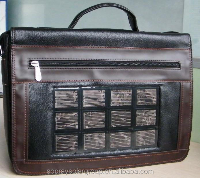 2015 New solar laptop bag for conference cheap price
