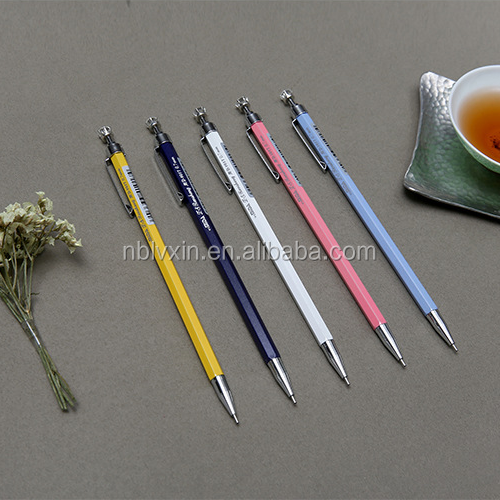 Best Selling Hot Design Metal Slim 4 Color 0.5mm Colored Lead Mechanical Pencil