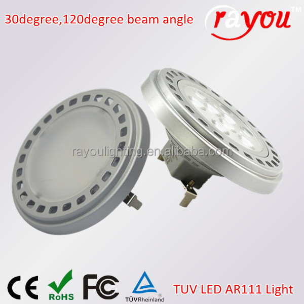 11W15w ar111 led spotlight 100-240VAC dimmable