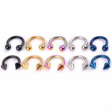Stainless Steel Piercing Jewelry Circular Barbells / Horseshoes