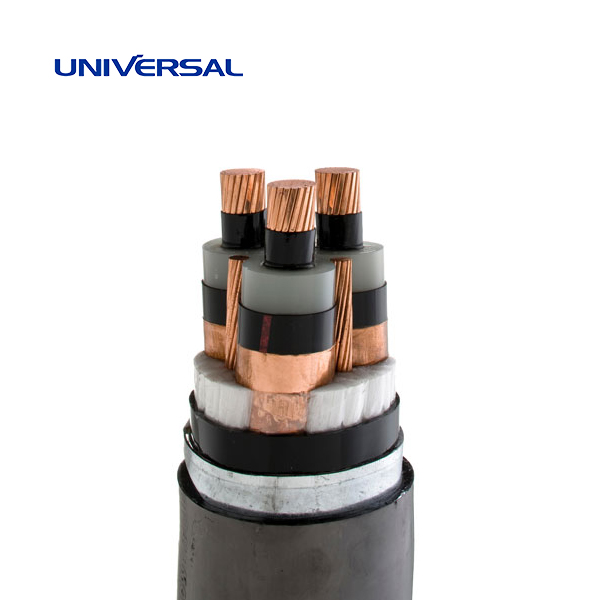 8.7 / 15 kV Medium Voltage Cables Three-Core Steel tape armoured CU/XLPE/PVC/STA/PVC IEC60502-2