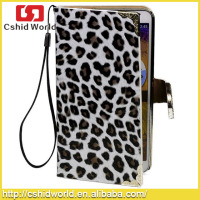 For Galaxy Note 3 Wallet Leopard Pattern Case, Flip Bling Case For Samsung Galaxy Note 3