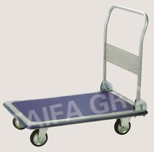 Platform hand trolley four wheels free sample trolley carts shopping carts