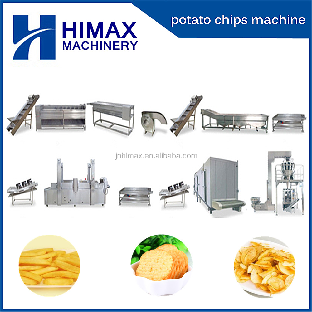 2017 Semi-Auto & full automatic fresh Potato Chips French fries making machines/potato chips stick production line for sale