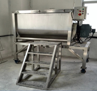 Durable low cost horizontal ribbon mixer with high rotation speed for animal fodder