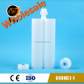 600ml two componenet plastic dual tube for adhesive glue