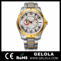 China watch manufacturer luxury all stainless steel back watch, gold coating skeleton automatic Swiss watch+ montres