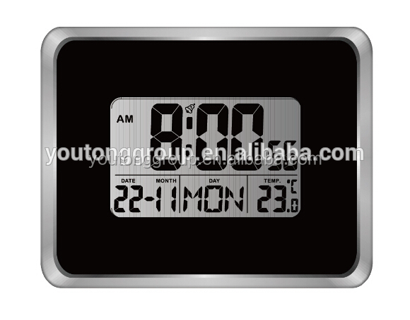 Indoor Temperature Display,Wall Sticker Clock With DCF Function