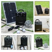 Portable 100W AC Output Portable Solar Generator solar lighting system for indoor