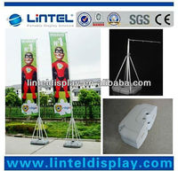 telescopic outdoor flag pole with water base