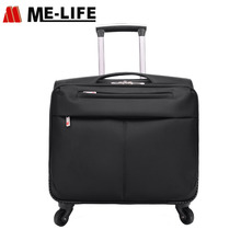 Multifunctional nylon travel briefcase pilot case luggage sets laptop trolley case with four 360 degree wheels
