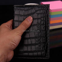 PU Alligator Embossing Passport Cover
