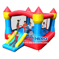 outdoor kids playing games inflatable bouncy castle/ jump slide combos