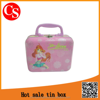 Rectangular metal tin lunch box