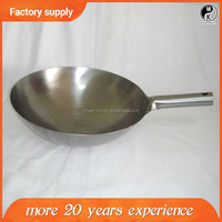 Best selling new one handle wok , Chinese Non-stick coating carbon steel wok