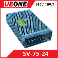 380VAC Input switching power supply dc24v 3a 75w output power