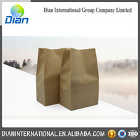 Wholesale Promotional Food Grade Takeaway Baking Brown Paper Kraft Bag With Logo Printing