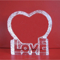 clear heart shape crystal paperweight for gift